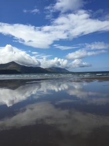 A beach scene, Inch, County Kerry.